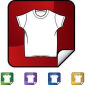 White Shirt icon — Stok Vektör