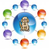Saint Bernard web icon — Stock Vector