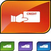 Credit card web button — Stock Vector
