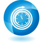 Clock web button — Stock Vector
