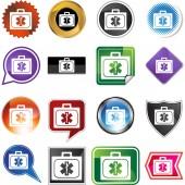 Medical Kit web icon — Stok Vektör
