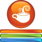 Coffee Cup button — Stock Vector