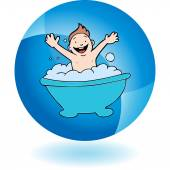 Baby Bath web icon — Stockvector