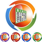 Bingo web icon — Vettoriale Stock