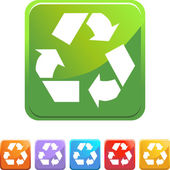 Recycling symbol web button — Stock Vector