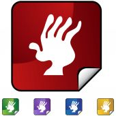 Arthritis web icon — Stock vektor