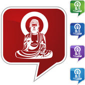 Buddha web icon — Stock Vector