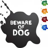 Beware of Dog colorful icons — Stock Vector