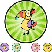 Toucan web button — Stock Vector