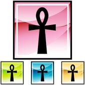 Egyptian cross icon. — Stock Vector