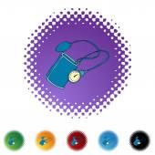 Bloeddruk apparaat — Stockvector