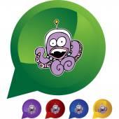 Octopus Alien web icon — Stockvector