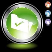 File web button — Vector de stock