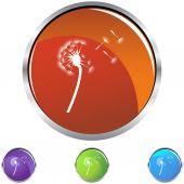 Dandelion web icon — Vecteur