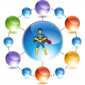 Superhero web icon — Stok Vektör