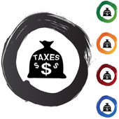 Taxes web icon — Stock Vector
