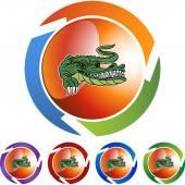 Alligator web icon — Stock Vector