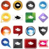 Fish Variety Set — Stock Vector
