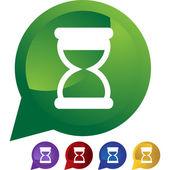 Hourglass web button — Vector de stock