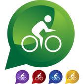 Ciclismo web nuotatore — Vettoriale Stock