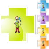 Cashier web icon — Stockvector