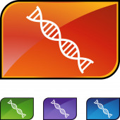 DNA Strand web icon — Stock Vector