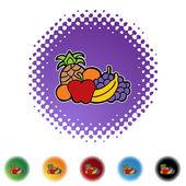Fruit icon button — Vector de stock