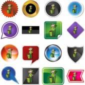 Gardener icon button — Cтоковый вектор