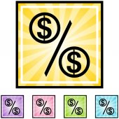 Percentage Rate web icon — Stock Vector