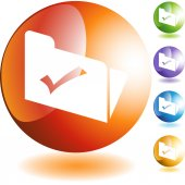 File web button — Stockvector