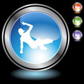 Breakdancer icon web button — Stock Vector