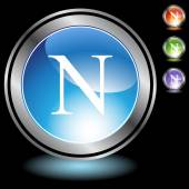 Griekse broederschap symboolpictogram — Stockvector