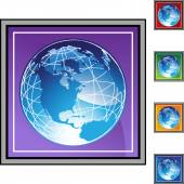 Earth globe web icon — Stock vektor