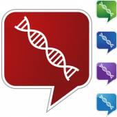 DNA Strand web icon — Stock Vector