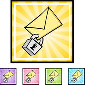 Secure Email icon button — Vector de stock