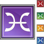 Símbolo do zodíaco de peixes — Vetor de Stock
