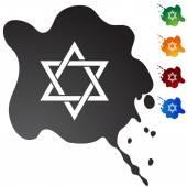Jüdische sternsymbol — Stockvektor