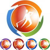 Hockey  web icon — Stock Vector