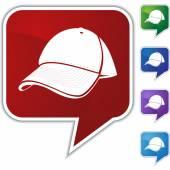 Baseball cap Speech Balloon Icon Set — Stock Vector