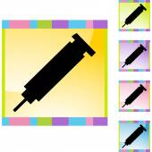 Syringe web icon — Stock Vector