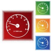Tachometer web icon — ストックベクタ