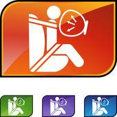 Air Bag  web icon — Stock Vector