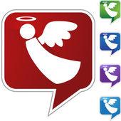 Botón de la web de Ángel — Vector de stock