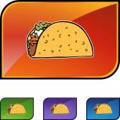 Ikona webové Taco — Stock vektor