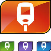 Diabetes Blood Test Monitor icon set — Stockvector
