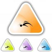 Seizure web icon — Stockvector