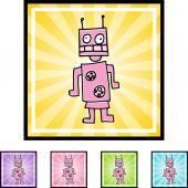 Robot web icon — Cтоковый вектор