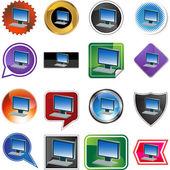 Computer web icon — Stock Vector