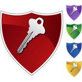 Generic Key web icon — ストックベクタ