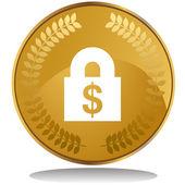 Financial Lock web icon — Stock Vector